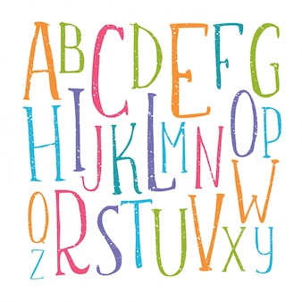 Alphabet de couleur manuscrite