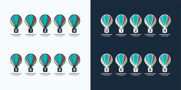 Alphabet créatif avec modèle de logo concept ballon