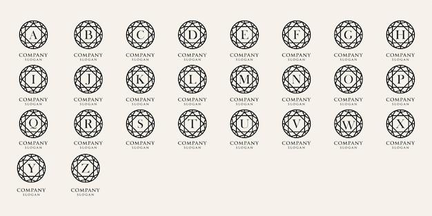 Alphabet créatif avec modèle de logo concept cercle