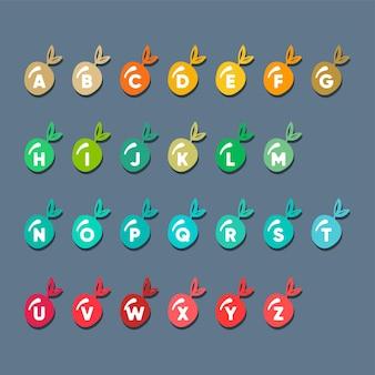 Alphabet créatif avec modèle de logo concept cerise