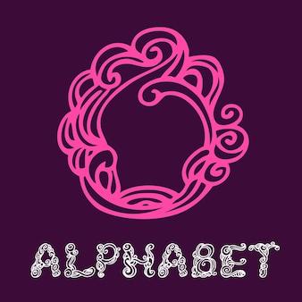 Alphabet de croquis dessinés à la main de doodle. lettre o
