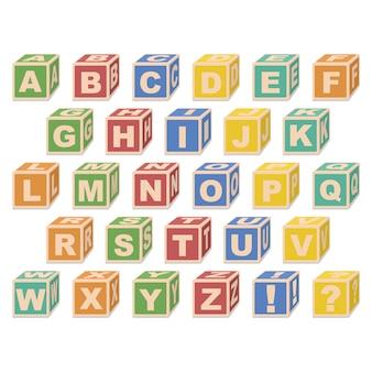 Alphabet cubes.