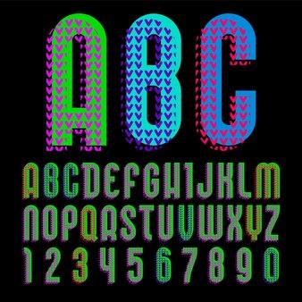 Alphabet dans le style du pop art, lettres vectorielles