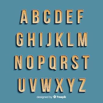 Alphabet dans le style vintage