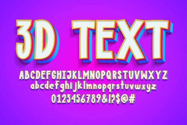 Alphabet de dessin animé 3d a - z