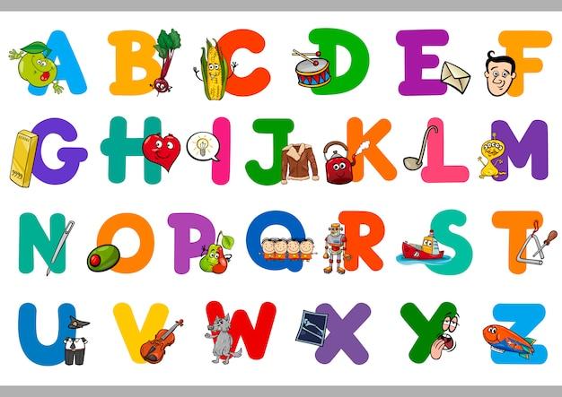Alphabet de dessin animé éducatif pour les enfants