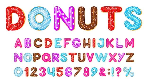 Alphabet donut isolé sur blanc