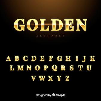 Alphabet doré