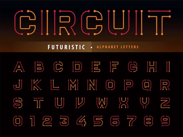 Alphabet du circuit