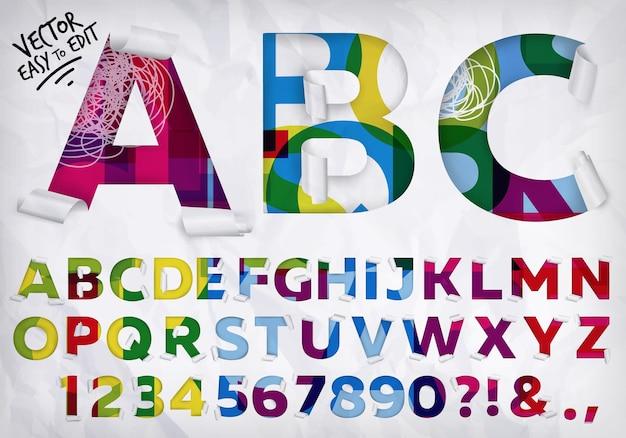 Alphabet enveloppé vif