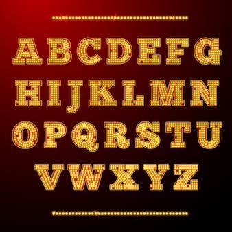 Alphabet fantastique faite de lumières