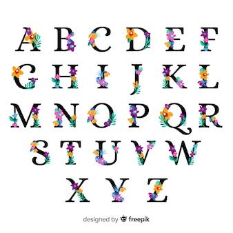 Alphabet floral plat