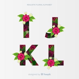 Alphabet floral