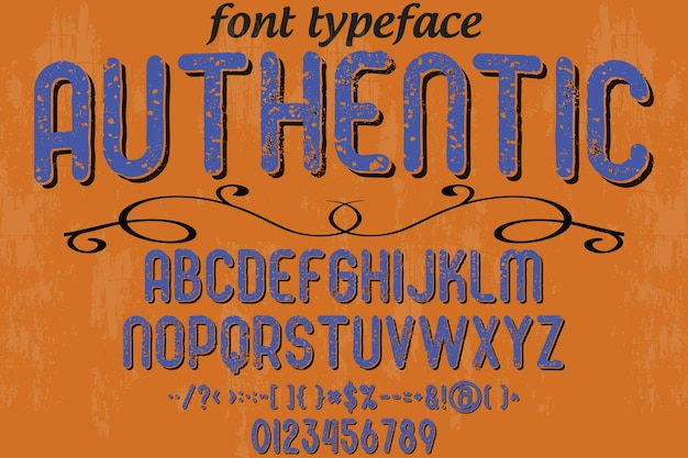 Alphabet fonte typographie fonte design authentique