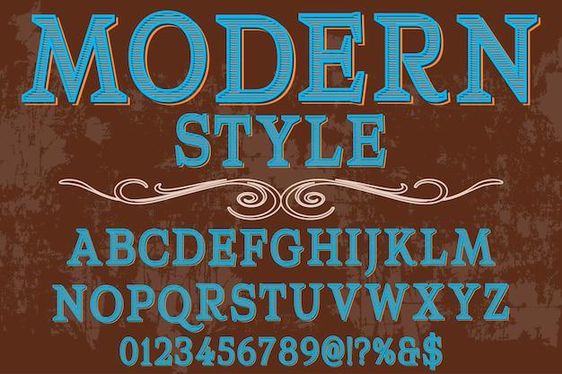 Alphabet fonte typographie police design design style moderne