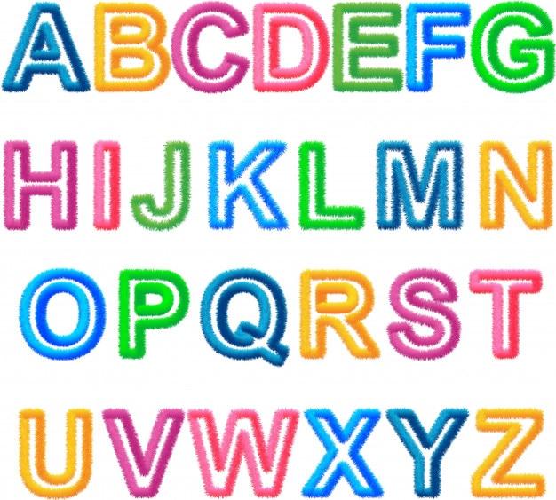 Alphabet furry