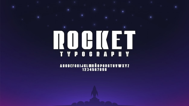 Alphabet futuriste avec concept d'espace