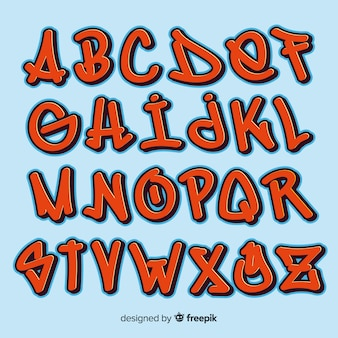 Alphabet graffiti
