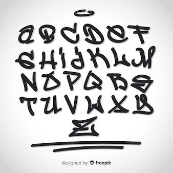 Alphabet graffiti