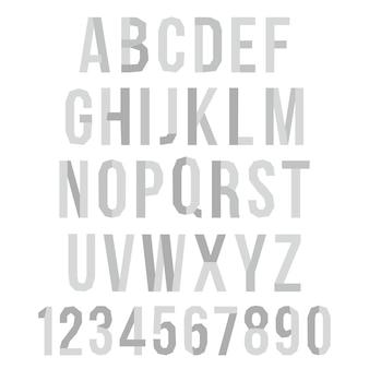 Alphabet graphique vectoriel en papier pour votre conception