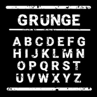 Alphabet grunge letters collection texte