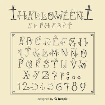 Alphabet d'halloween vintage