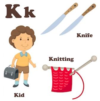 Alphabet k lettre
