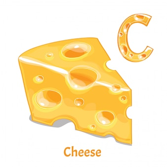 Alphabet, lettre c du fromage