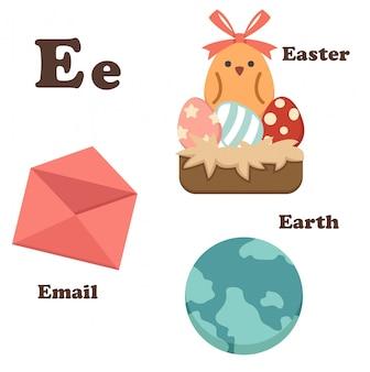 Alphabet lettre e