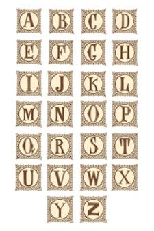 Alphabet lettre élégante.
