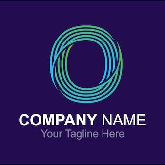 Alphabet lettre o logo