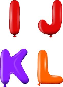 Alphabet lettres ijkl couleurs