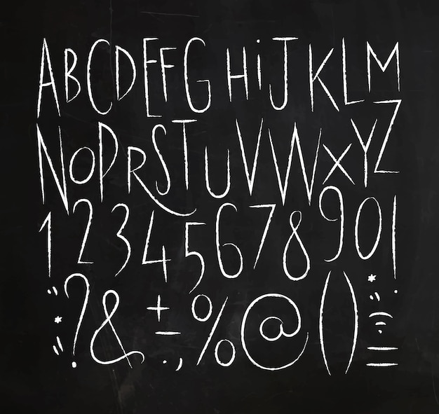 Alphabet lignes pointillées police noir