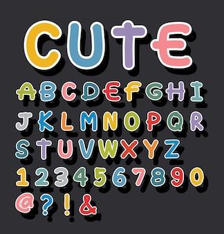 Alphabet mignon dessiné