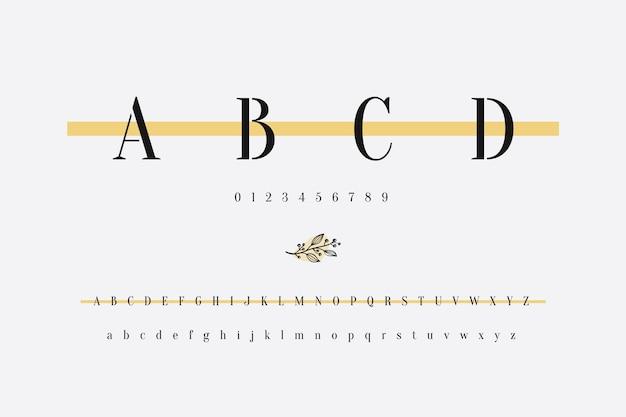 Alphabet minimal élégant