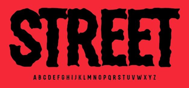 Alphabet à la mode minable superbe police haute type condensé pour la rue de titre de logo streetwear moderne