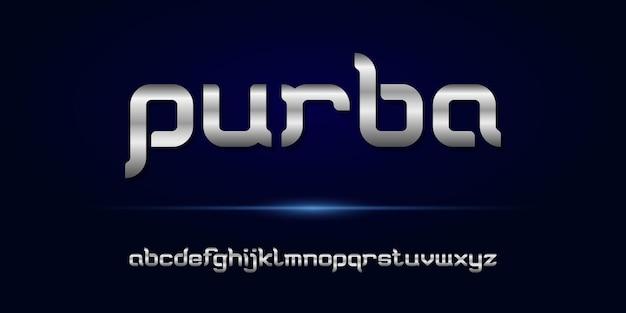 Alphabet moderne élégant simple avec modèle de style urbain