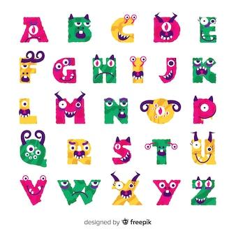 Alphabet monstre d'halloween