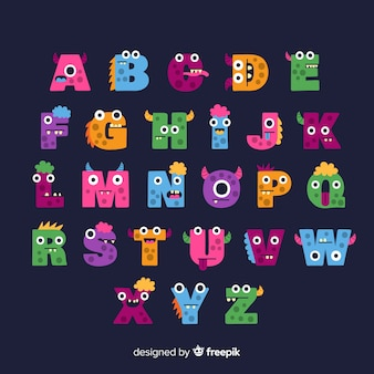 Alphabet monstre d'halloween