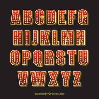 Alphabet neon