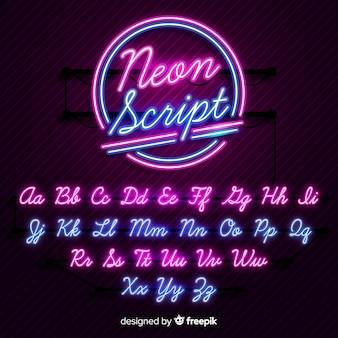 Alphabet néon