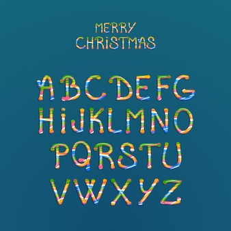 Alphabet de noël de canne de bonbon
