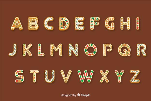 Alphabet de noël en canne