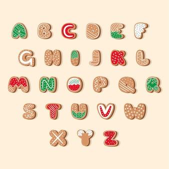 Alphabet de noël en pain d'épice