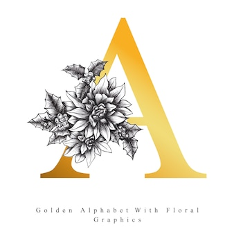 Alphabet d'or lettre a