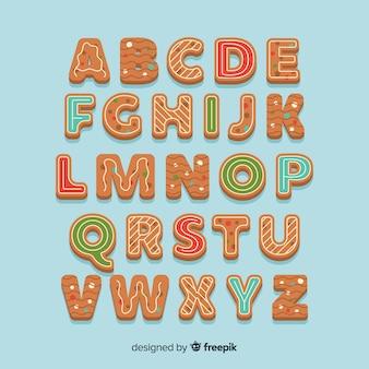 Alphabet en pain d'épice décoré