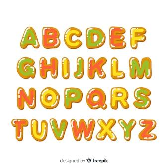 Alphabet de pain d'épice de noël