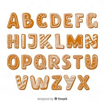 Alphabet pain d'épice