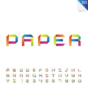 Alphabet en papier coloré