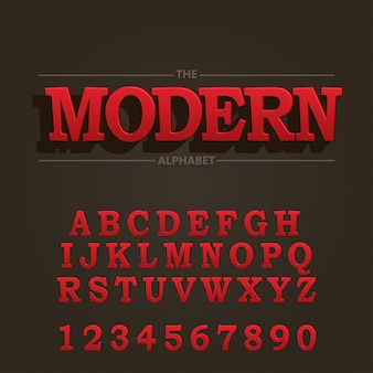 Alphabet et police audacieuse moderne